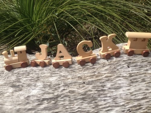 PERSONALISED WOODEN NAME TRAIN